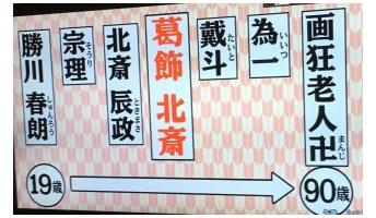 【悲報】葛飾北斎さん、うっかり晩年にふざけた名前にしてしまう・・・・