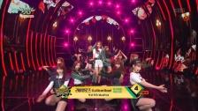 緑を基調とした衣装で登場 IZ*ONE、「ミュージックバンク」で『La Vie en Rose』披露