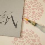 『これは便利! 書道の練習や趣味に使えるダイソーの水書き用紙』の画像