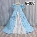 ロココ調リボンの子供ドレス ブルー(110cm)SOLD OUT