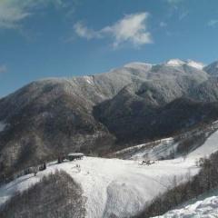 ほおのき平でスキー