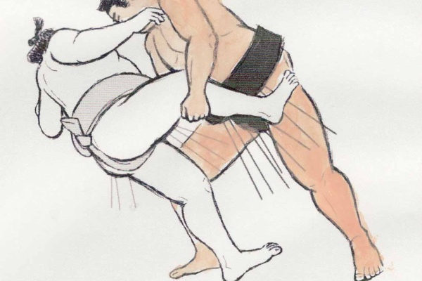 小褄取り 相撲