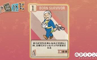 Fallout 76:Born Survivor(Agility)