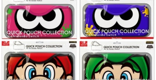 Nintendo Switch用ソフトポーチ、『スプラトゥーン2』と『スーパーマリオ』の新デザインが登場!