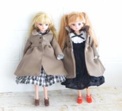 22cmドールサイズのコート/「フェルトでつくるリカちゃん手縫服 オールシーズン」を読みました!