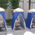 【画像】『武蔵小杉』タワーマンションの現在の状況、仮設トイレが勝ち組過ぎるwww。