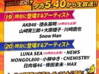 【日向坂46】『テレ東音楽祭』日向坂46の出演時間が決定!!!!!!!!!