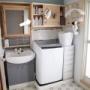 ▼洗濯機上の収納DIY 棚を作り変えます#3 壁美人で取り付け!
