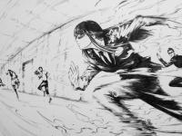 【日向坂46】例の絵師さん、逃走中のひなのを見事に描き上げるwwwwwwww