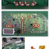 『自動車エアコンパネル,スピードメーターのLED交換(LED打ち替え)』の画像