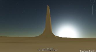 【宇宙】グーグルマーズで火星に建つ巨大な塔(高さ6km)人工の構造物か