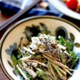 『今日の副菜『ごぼうとひじきのマヨぽんサラダ』』の画像