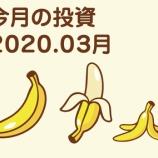 『今月の投資。v( ̄∇ ̄)v 2020.03』の画像
