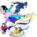 ウインタースポーツ 冬季オリンピック スケート イラスト