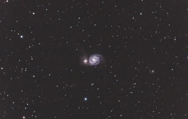 『りょうけん座の子持星雲(M51)』の画像