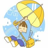 『【クリップアート】傘で飛ぶこども』の画像