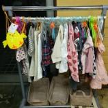 『【大映ミシン リユース品の子供服を販売しています】100円、300円、500円の子供服です!』の画像
