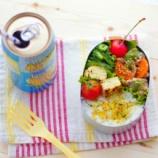 『家庭菜園で夏野菜がとれました!自家製ゴーヤとトマト入りのお弁当』の画像