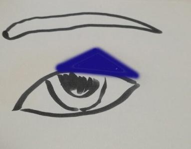 一重 ブルーアイシャドウ カラーアイシャドウ 塗り方