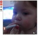 【画像】18歳母、1歳娘の喫煙写真をSNSに投稿で批判殺到