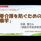 『中屋豊・徳島大名誉教授(栄養学)の講演(連続講座 「老いない体づくりを目指す」)』の画像