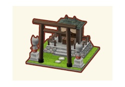 【ポケ森:ネタバレ】つねきち神社(オブジェ)レベル5を早くも完成した人現る!!!【画像あり】