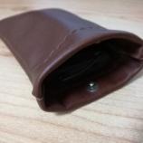 『【レザークラフト】小袋(音楽プレーヤー入れ)作成』の画像