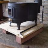 『薪ストーブ設置』の画像