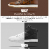 『RESTIRにて NIKE DUNK HI Burnish・LUX 抽選販売』の画像