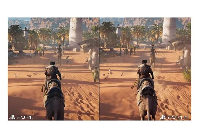 【アサクリオリジンズ】PS4/PS4proで比較