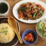 冷蔵庫整理な炒飯と炒め物献立