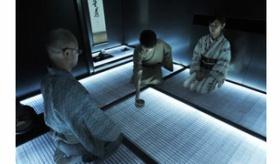 【日本の文化】   伝統的な茶室の畳が 光り出す!?  1畳20万円の LED発光する サイバー茶室空間。   海外の反応