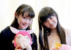 いまもっともかわいい小野田紗栞ちゃんと阿部夢梨ちゃんが奇跡の共演!