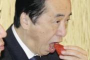 【画像あり】おいしそうにイチゴを食べる管首相