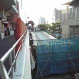 『戸田市戸田公園駅前行政センター2階出入口工事が進んでいます』の画像