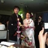 『友人の結婚式。おめでとう!』の画像