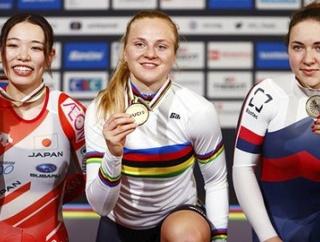 【ケイリン】佐藤水菜が銀メダル 自転車世界選手権 日本女子で初