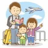 『【クリップアート】お父さんと旅行に行く子供たち・GWの家族のイラスト』の画像