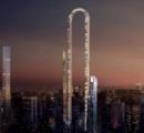 形は逆U字、奇抜なデザインの世界「最長」のビル=米建築事務所がアイデア