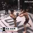 【修斗】中村倫也がMMAプロデビュー戦で左ハイを決めKO勝利