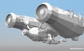 ヌカワールドをテーマにした飛行船「ヌカブラスト」(MOD製作用リソース)
