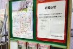 手書きで素敵!『京阪沿線の桜情報』。わかりやすいシールのポスターで開花情報をチェック!