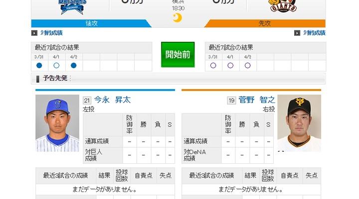 【 巨人vsDeNA 】スタメン発表!先発は菅野!3番坂本、4番阿部、5番マギー!18:00~