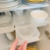 【キッチン:食器棚】【その3.三段目】無印良品ケースで引き出しを作り楽な出し入れ実現。。