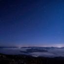 美幌峠の星と雲海