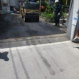 『愛知県一宮市音羽 デイサービス入口 アスファルト舗装の水たまり解消オーバーレイ工事 施工事例』の画像