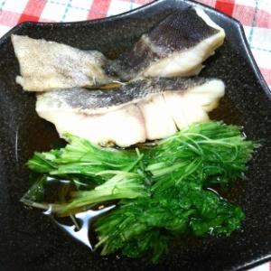 タラと水菜の煮浸し