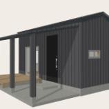 『6畳一間で建築するとこんな感じ!?その3 テラスを240センチ延長。』の画像