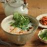 簡単お昼ごはん★厚揚げと豆乳の中華粥風