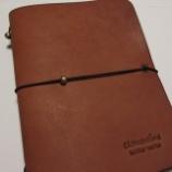 『ステキなプレゼント貰いました。clementine leather works「ブックカバー」』の画像